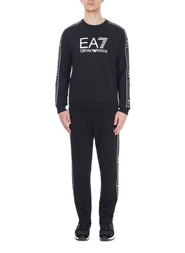 EA7 Emporio Armani  Cepli Şerit Detaylı Eşofman Altı Erkek Eşofman Altı 6Hpp01 Pj3Mz 1200 Siyah